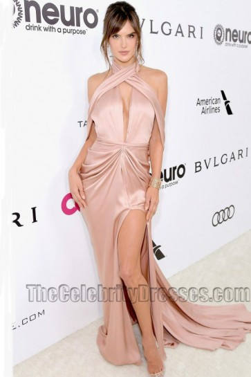 Alessandra Ambrosio Evening Dress 25th Annual Elton John AIDS Foundation's Academy Awards