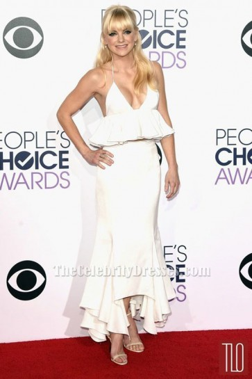 Anna Faris Ivory Two Pieces Formal Dress People's Choice Awards 2015 TCD6168