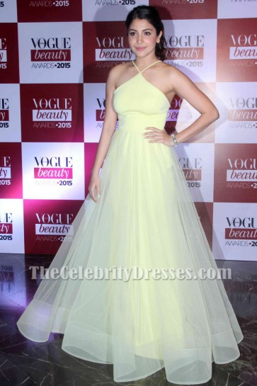 Anushka Sharma A-line Prom Evening Dress Vogue Beauty 2015 TCD6864