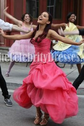 Ariana Grande Strapless Prom Gown Put Your Hearts Up Dress