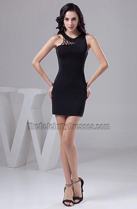New Style Asymmetric Short Mini Black Party Homecoming Dresses