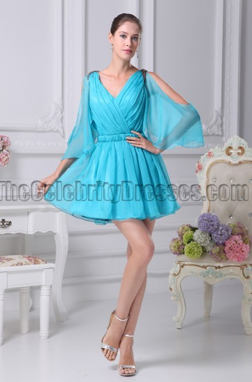 Blue Short Party Homecoming Graduation Dresses