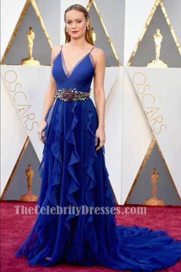 Brie Larson 88th Annual Academy Awards Royal Blue Formal Dress TCD6572