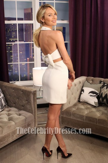 Candice Swanepoel Backless Party Dress The Lowdown with Diana Madison in LA