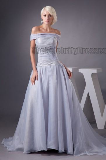 Celebrity Inspired Off-the-Shoulder A-Line Formal Evening Dresses