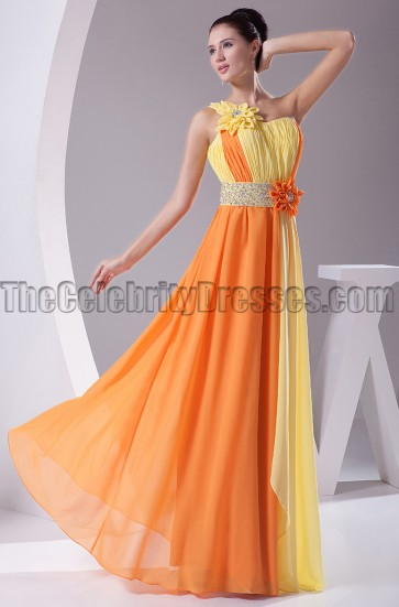Celebrity Inspired One Shoulder Formal Dress Evening Prom Gown