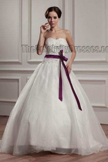 Celebrity Inspired Sweetheart Strapless A-Line Wedding Dress