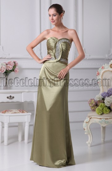 Discount Strapless Bridesmaid Prom Dresses