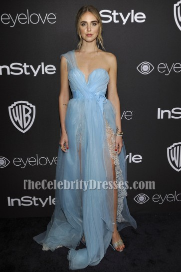 Chiara Ferragni Blue Evening Gown 73rd Annual Golden Globe Awards Post-Party Dress TCD7119