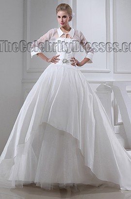 Chic Long Sleeve A-Line Chapel Train Wedding Dresses