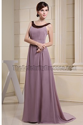 Chic Scoop Neckline Chiffon Prom Dress Formal Dresses