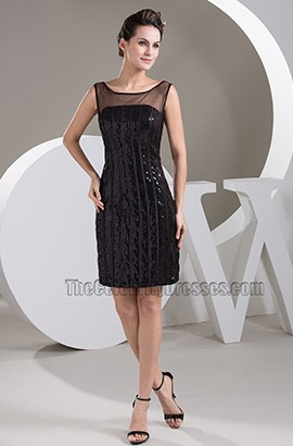 Chic Little Black Graduation Party Homecoming Dresses