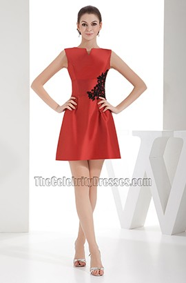 Chic Short Mini Red A-Line Party Dress Homecoming Dresses