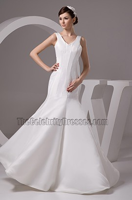 Celebrity Inspired Mermaid Floor Length Wedding Dress