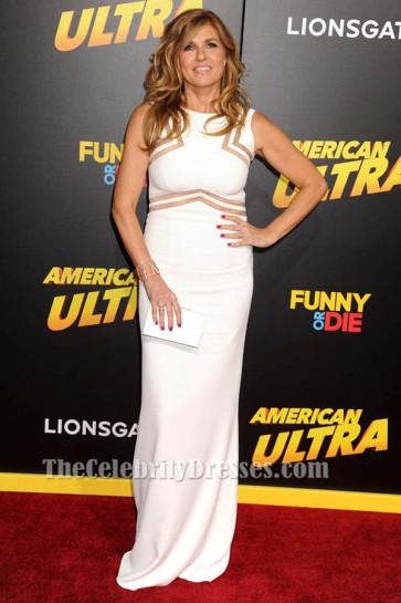 Connie Britton White Sleeveless Evening Dress 'American Ultra' LA Premiere TCD6165