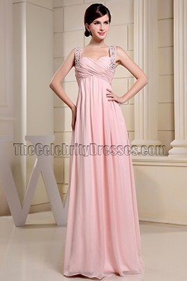 Sweetheart Pink Beaded Prom Dresses Evening Gowns