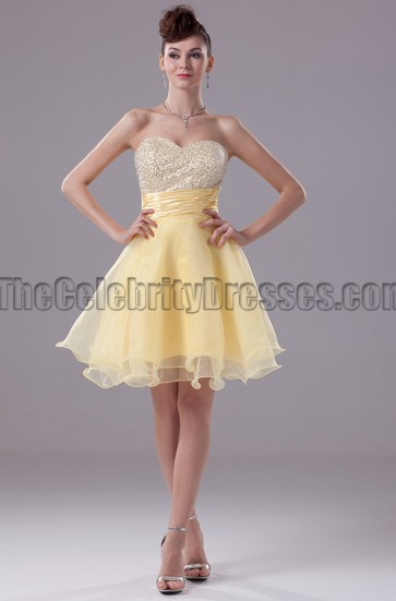 Daffodil A-Line Sweetheart Homecoming Party Dresses
