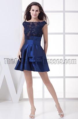 Dark Royal Blue Short Mini Homecoming Party Dresses