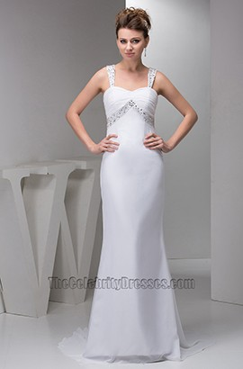 Discount Sexy Backless Chiffon Beaded Wedding Dresses