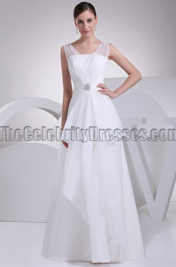 Discount Organza Full Length A-Line Wedding Dresses