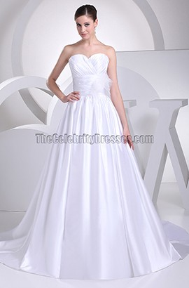 Discount Strapless Sweetheart A-Line Taffeta Wedding Dress