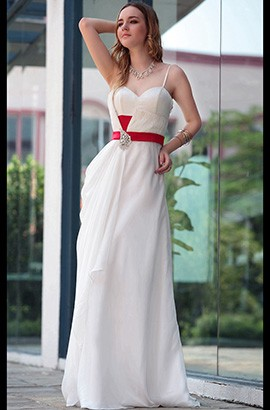 Discount Sweetheart Floor Length Evening Prom Dresses