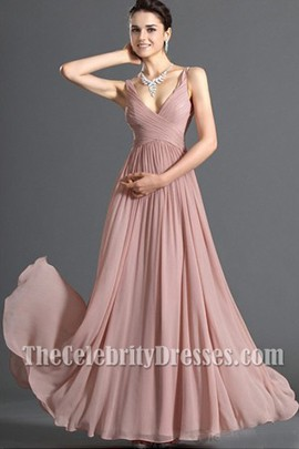 Discount V-neck Chiffon Prom Dress Evening Formal Dresses