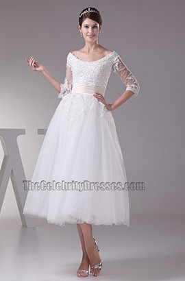 Elegant A-Line Lace Up Back Embroidery Organza Wedding Dress