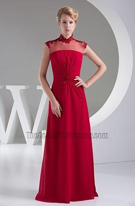 Elegant Burgundy Floor Length Formal Gown Prom Dress