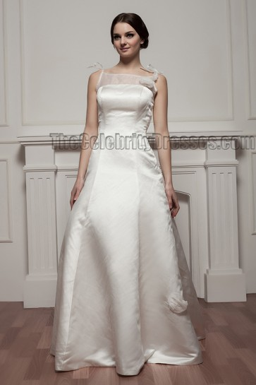 Elegant Floor Length A-Line Wedding Dress Bridal Gown