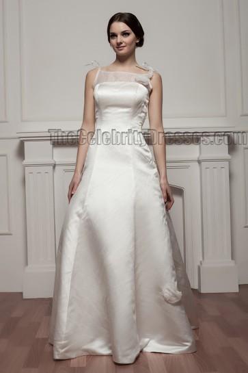 Elegant Floor Length A-Line Wedding Dress Bridal Gown