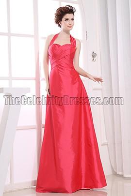 Elegant Halter A-Line Prom Gown Bridesmaid Dresses