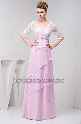 Elegant Lace Chiffon Formal Dress Prom Evening Gown