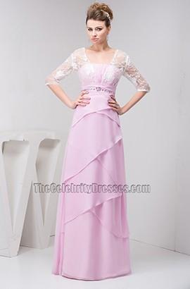 Elegant Lace Chiffon Formal Dress Prom Evening Gown