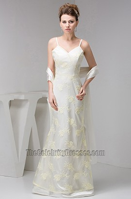 Elegant Lace Spaghetti Straps Formal Dress Evening Gown With A Wrap