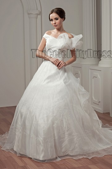 Elegant Off-the-Shoulder A-Line Wedding Dresses