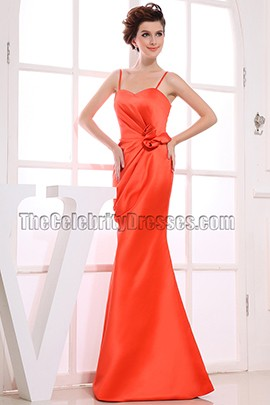 Elegant Orange Red Sweetheart Prom Dress Evening Dresses