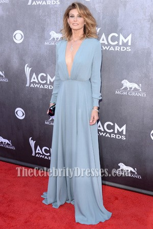 faith hill blue prom dress 49th annual academy of country