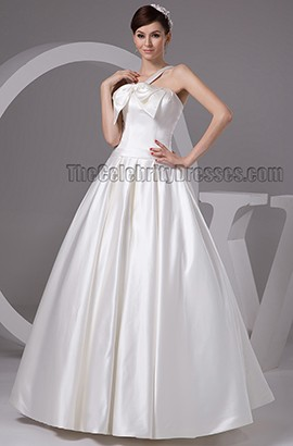 Floor Length Ball Gown Lace Up Wedding Dresses