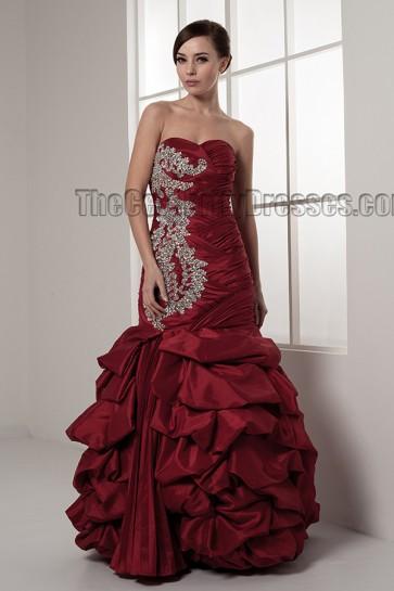 Floor Length Strapless Sweetheart Beaded Formal Wedding Dresses