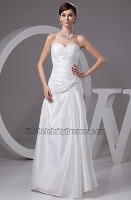 Floor Length Strapless Sweetheart Taffeta Wedding Dress