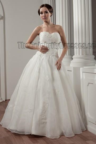 Floor Length Sweetheart Strapless A-Line Wedding Dresses