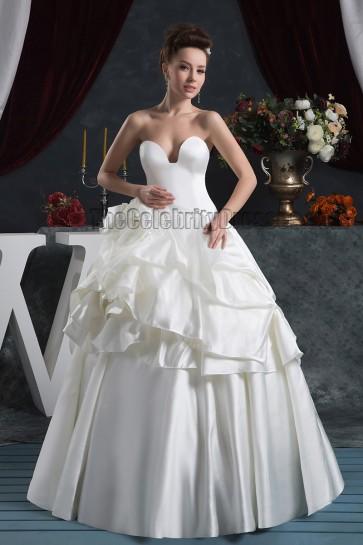 Glamorous Floor Length Ball Gown Strapless Wedding Dresses