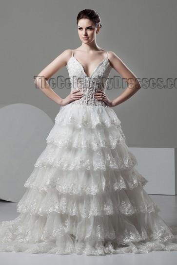 Gorgeous A-Line Spaghetti Straps Wedding Dresses