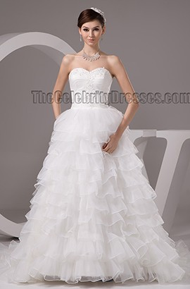 Gorgeous A-Line Strapless Sweetheart Embroidered Wedding Dresses