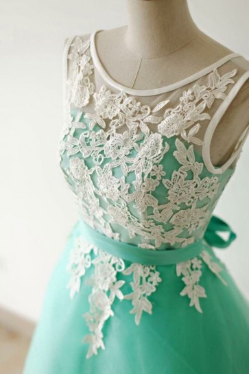 Gorgeous Mint A-Line Homecoming Party Graduation Dresses TCDFD7342