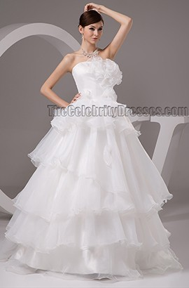 Gorgeous Strapless A-Line Floor Length Wedding Dress