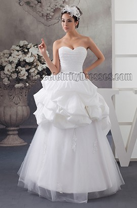 Gorgeous Strapless Sweetheart Floor Length Wedding Dresses