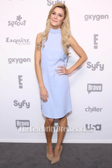 Grace Helbig Sleeveless Lavender Party Dress 2015 NBCUniversal Cable Entertainment Upfront TCD6164