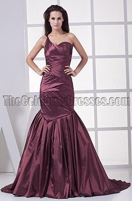 One Shoulder Mermaid Formal Gown Evening Dress